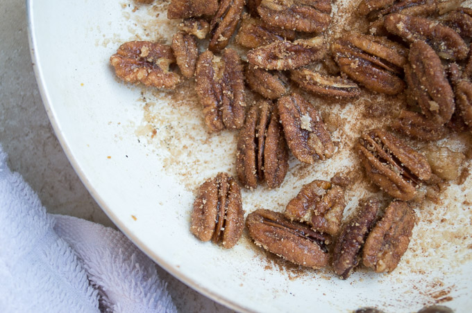 roasted cinnamon sugar pecans