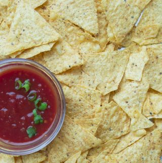 chips with a bowl of salsa