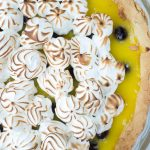 close up of lemon tart