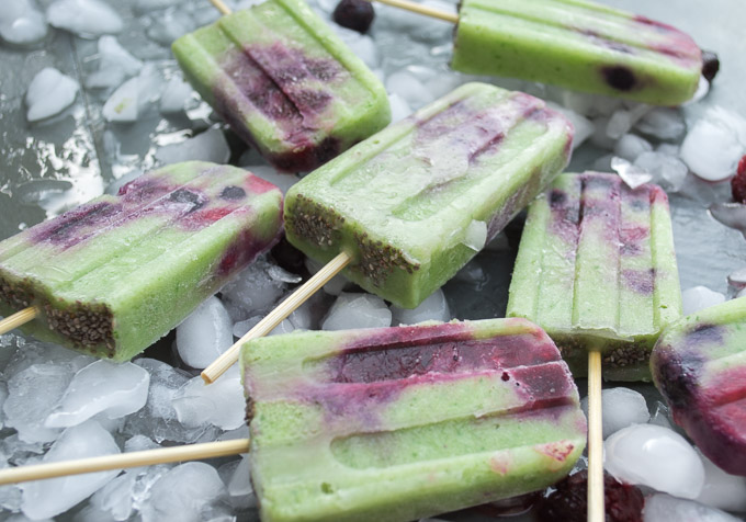 close up of popsicles
