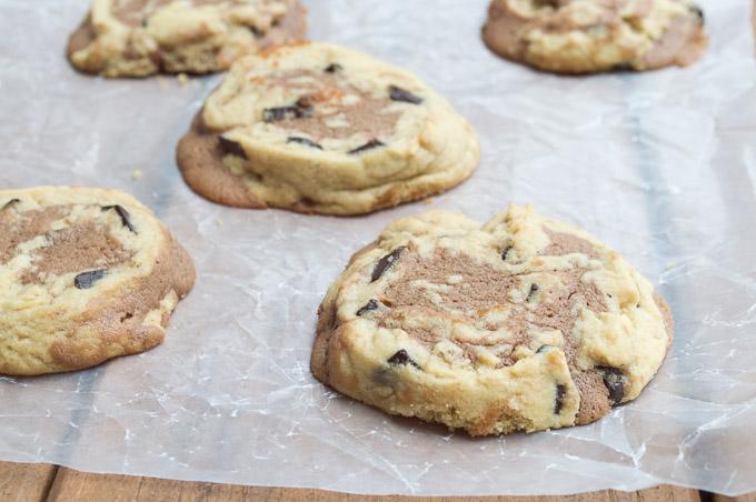 cooked brookie cookies