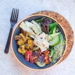 veggie bowl with hummus
