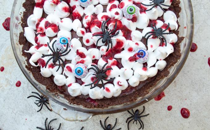 chocolate raspberry tart goblin blood tart