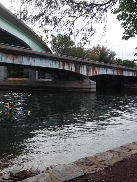 river near art museum