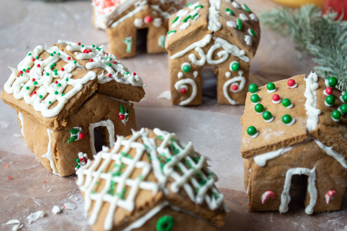 village of gingerbread houses