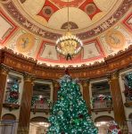 playhouse theater decorated for christmas