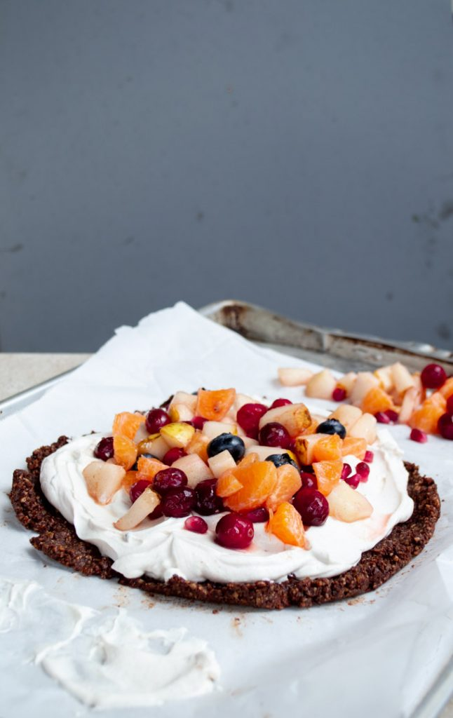 no bake fruit tart with winter fruit