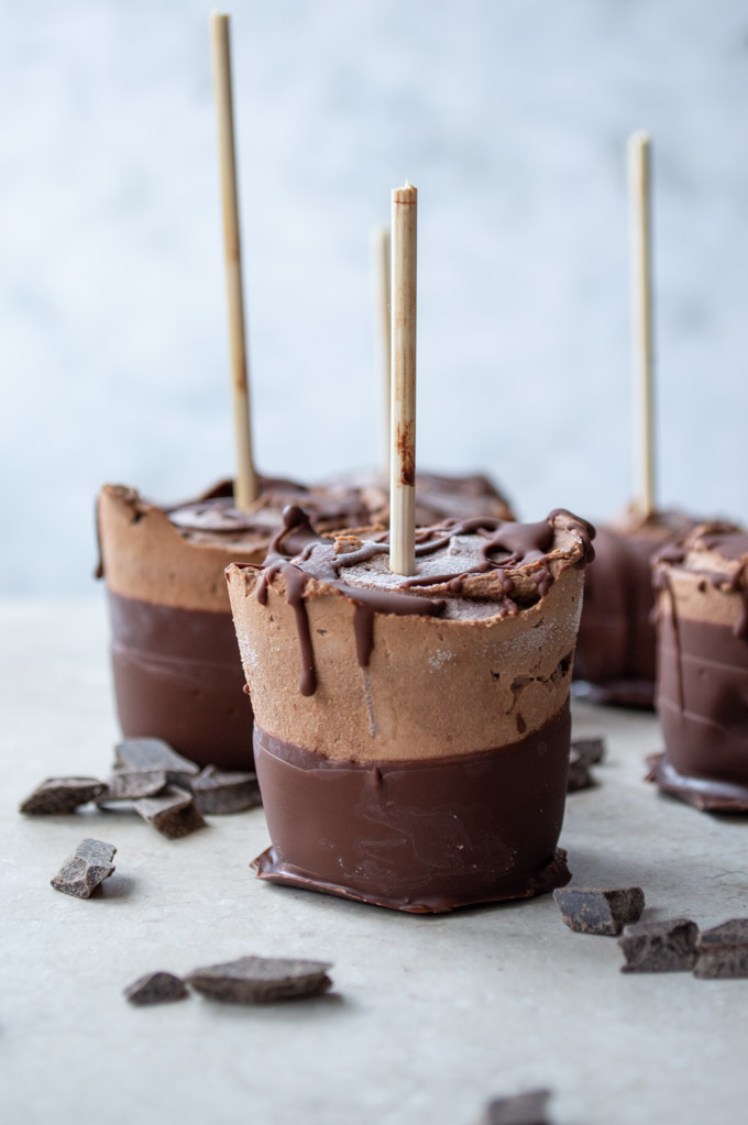 fudgesicles dipped in chocolate