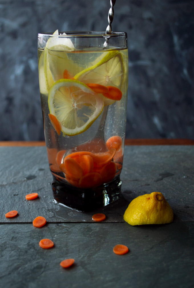 lemon, apple, carrot water