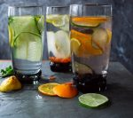 fruit and vegetables in infused water