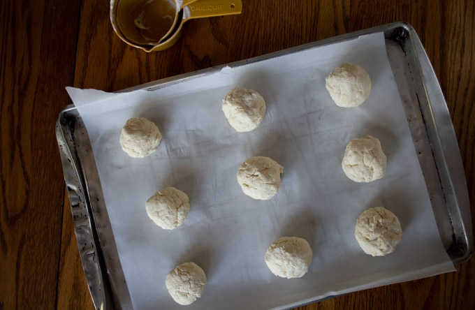 forming bagel dough