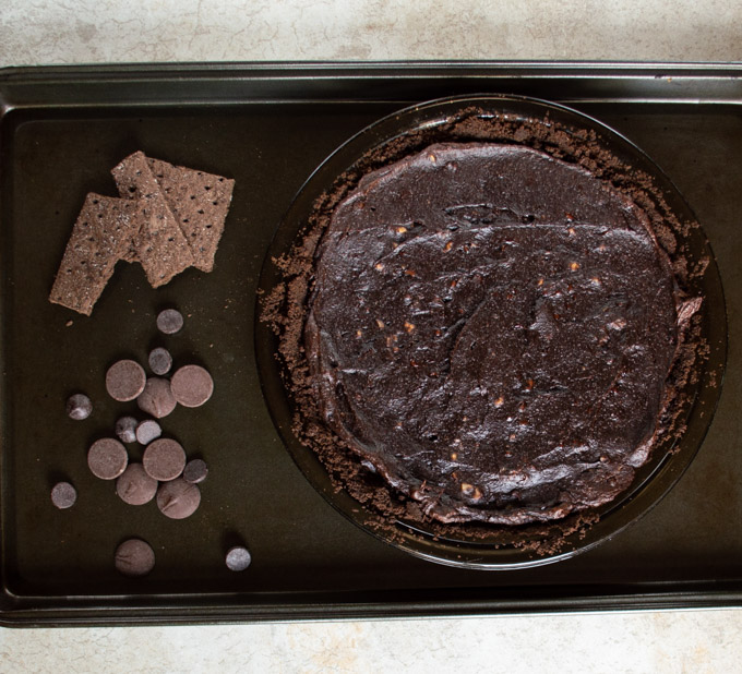 cooked brownie pie