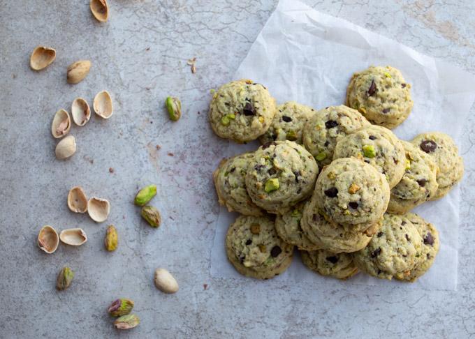 pile of pistachio cookies