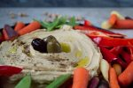 hummus with raw vegetables