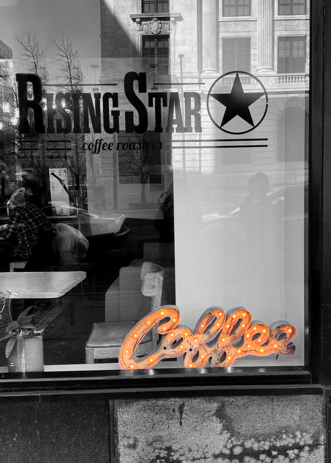 outside of rising star coffee roasters