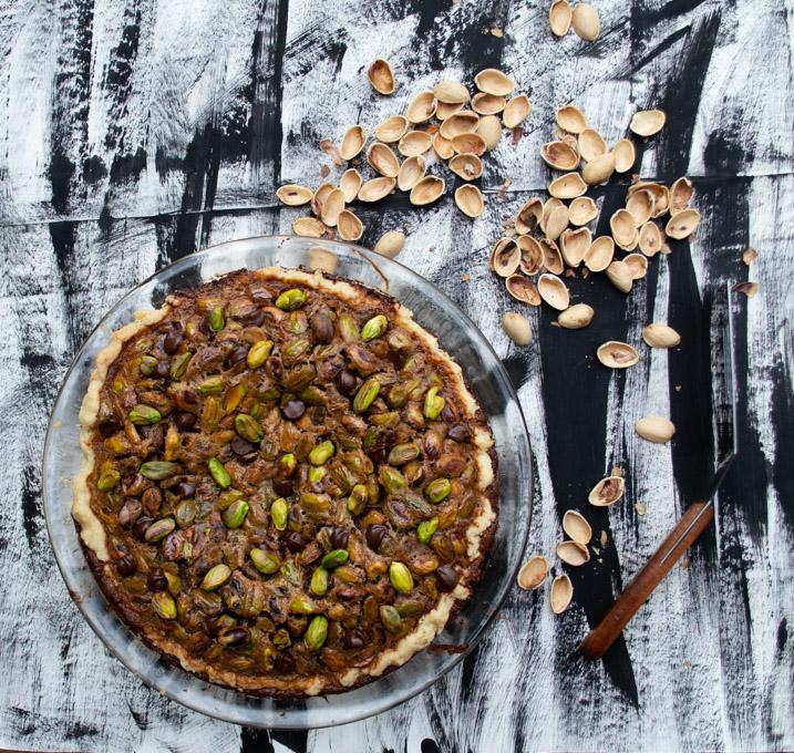 baked pistachio pie